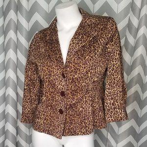 JOAN RIVERS cheetah print blazer jacket